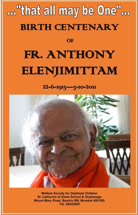 Anthony Elenjimittam Birth Centenary
