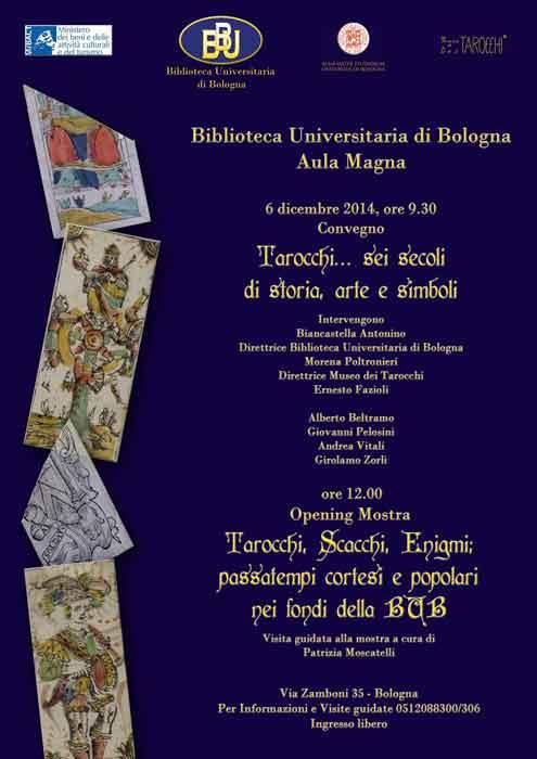 Convegno Tarocchi, BUB, Bologna