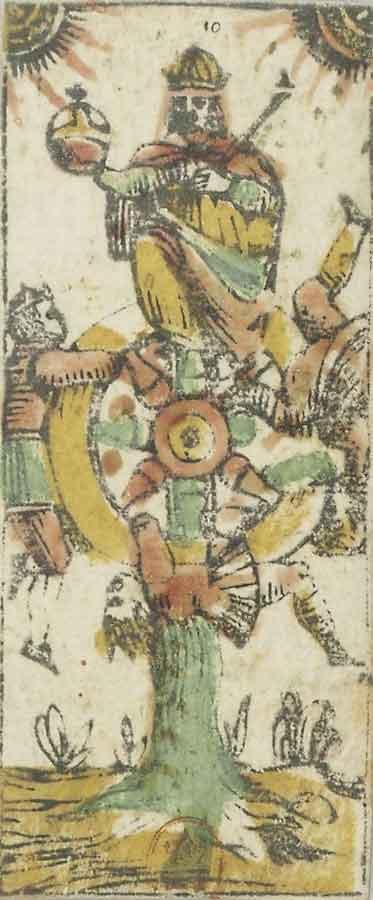 La Ruota, Tarocchi di Bologna, XVII secolo