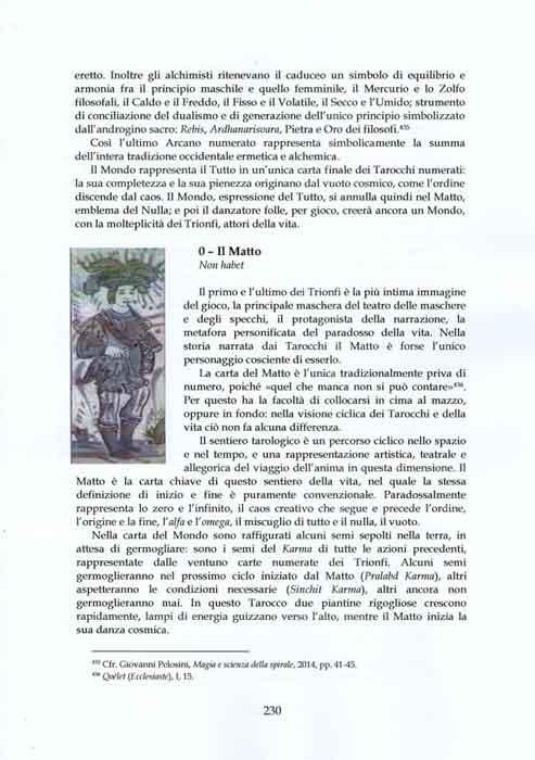Pelosini, Tarocchi, Specchi dell'Infinito, 230