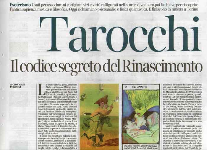 Tarocchi, Pelosini, Corriere della Sera, 2017
